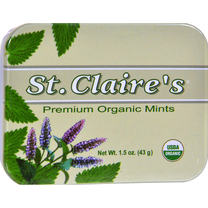 St Claire's Organic Premium Mints Display Case - Case Of 6 -