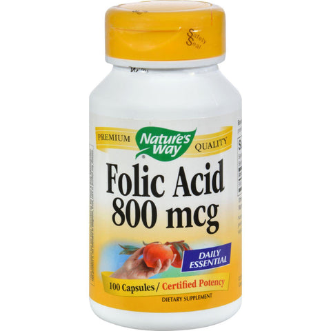 Nature's Way - Folic Acid - 800 Mcg - 100 Capsules