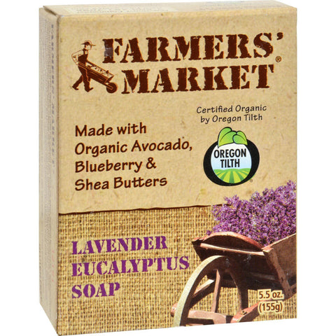 Farmer's Market Natural Bar Soap Lavender Eucalyptus - 5.5 Oz