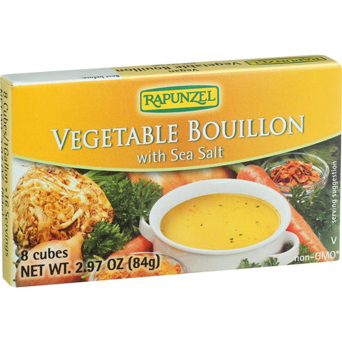 Rapunzel Bouillon Cubes - Vegetable - Vegan - Sea Salt - 2.97 Oz - Case Of 12