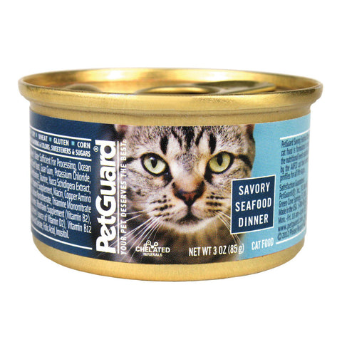 Petguard Cats Food - Savory Seafood Dinner - Case Of 24 - 3 Oz.