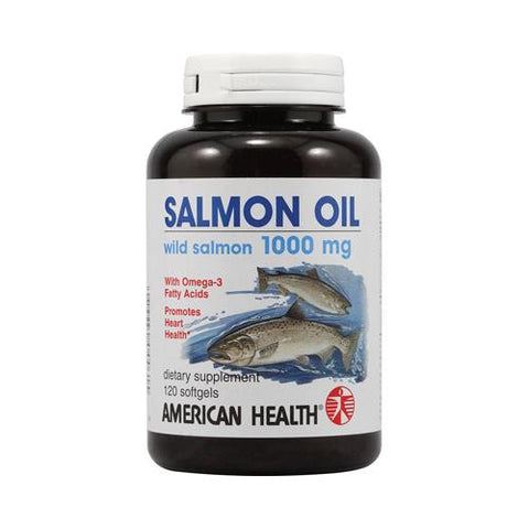 American Health Salmon Oil - 1000 Mg - 120 Softgels - evoxMarket