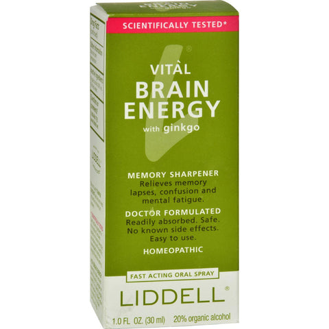 Liddell Homeopathic Brain Energy Spray - 1 Fl Oz