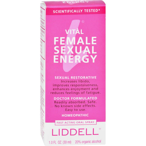 Liddell Homeopathic Female Sexual Energy Spray - 1 Fl Oz