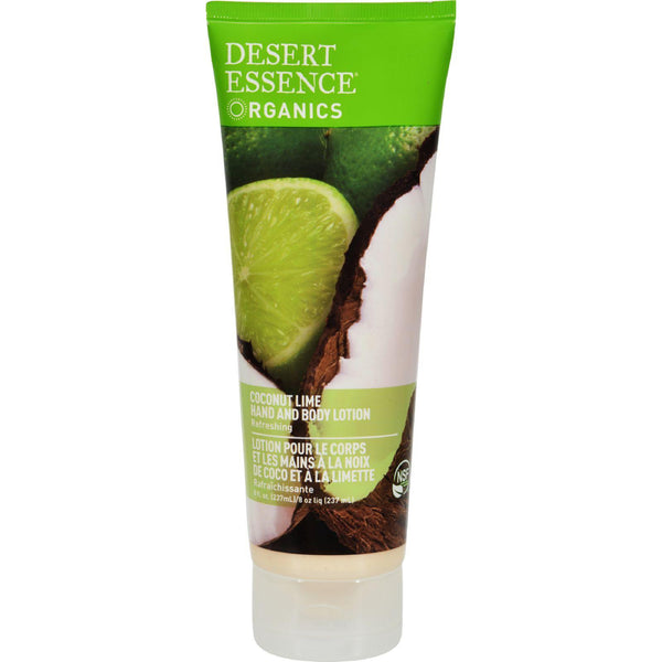 Desert Essence Hand And Body Lotion Coconut Lime - 8 Fl Oz