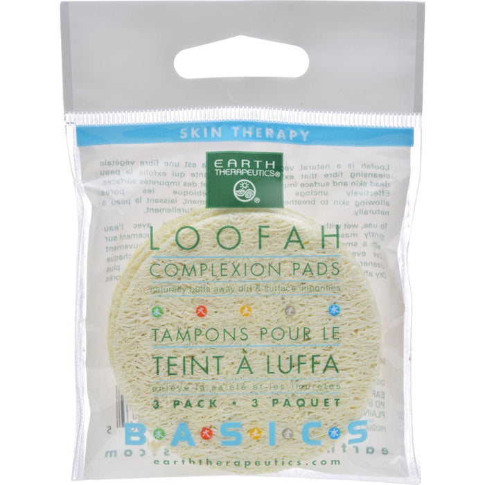 Earth Therapeutics Loofah Complexion Pads - 3 Pads - Case Of