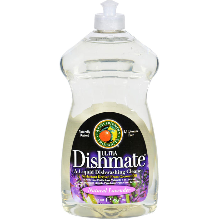 Earth Friendly Dishmate Dish Liquid - Lavender - 25 Fl Oz