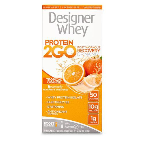 Designer Whey Protein To Go Packets - Orange - 5 Packets - evoxMarket
