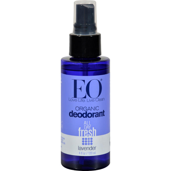 Eo Products Organic Deodorant Spray Lavender - 4 Fl Oz