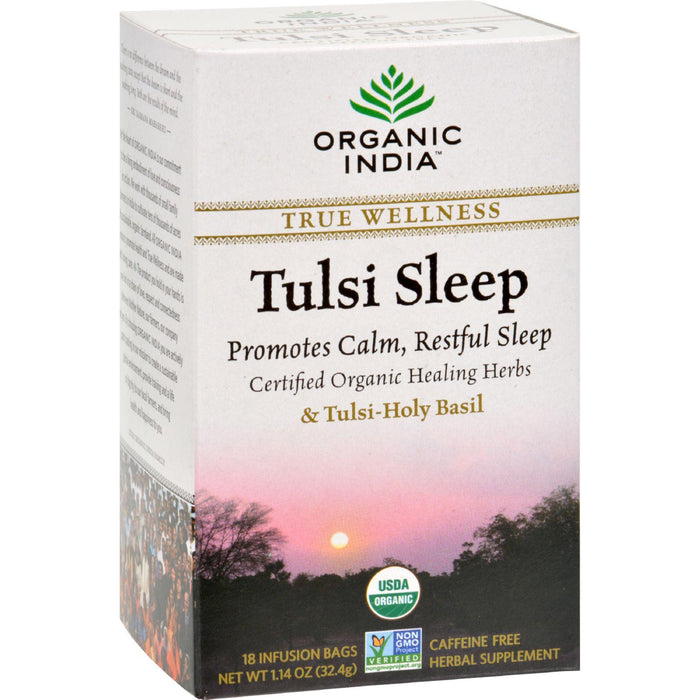 Organic India Tulsi True Wellness Sleep Tea - 18 Tea Bags -