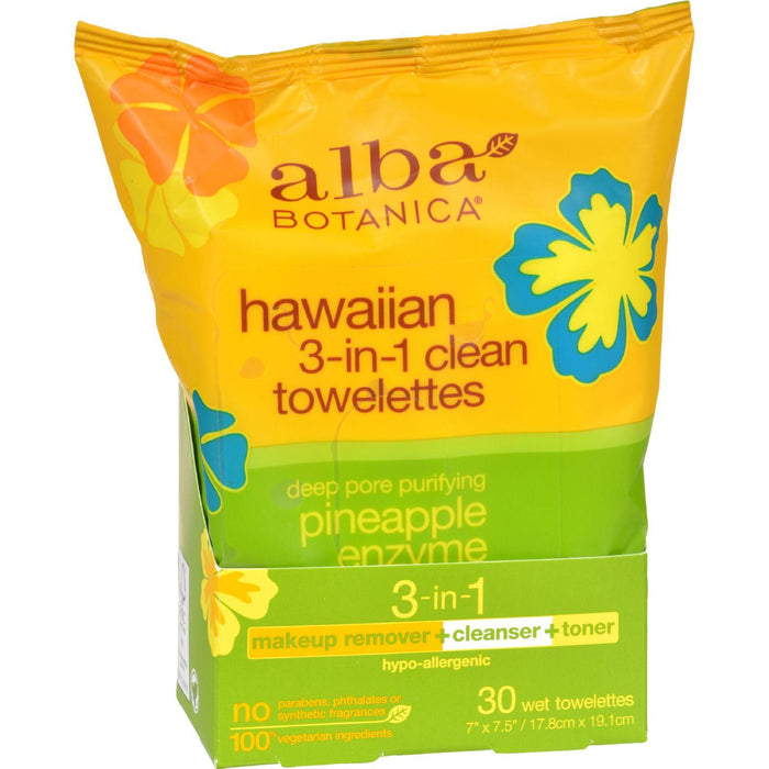Alba Botanica - Hawaiian Towelettes 3-in-1 - 30 Pack