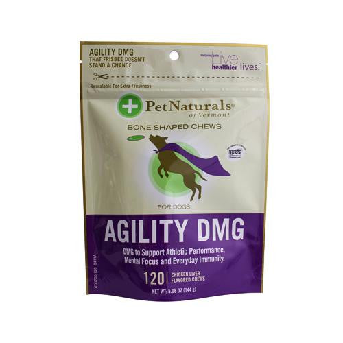 Pet Naturals Of Vermont Agility Dmg Bone Shaped Chews For Dogs Chicken Liver - 120 Chewables - evoxMarket