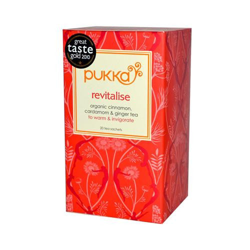Pukka Herbal Teas Revitalize Organic Cinnamon Cardamom And
