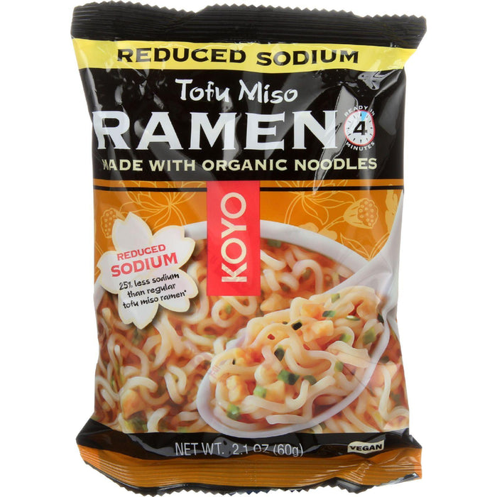 Koyo Ramen - Reduced Sodium Tofu Miso - Case Of 12 - 2.1 Oz.