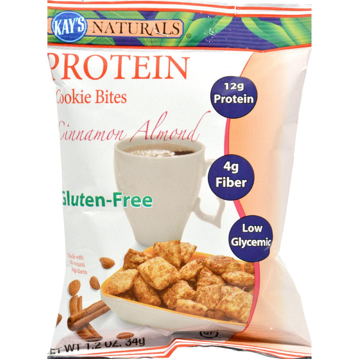 Kay's Naturals Protein Cookie Bites - Cinnamon - Case Of 6 -