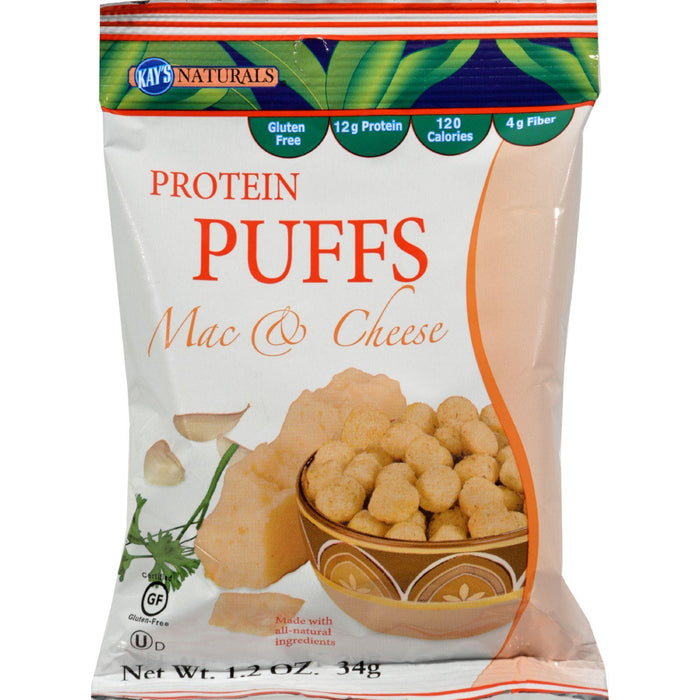 Kay's Naturals Protein Puffs - Mac And Cheese - Case Of 6 -