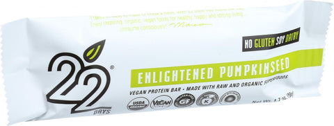 22 Days Nutrition Organic Protein Bar - Enlightened Pumpkinseed - Case Of 12 - 1.7 Oz Bars - evoxMarket