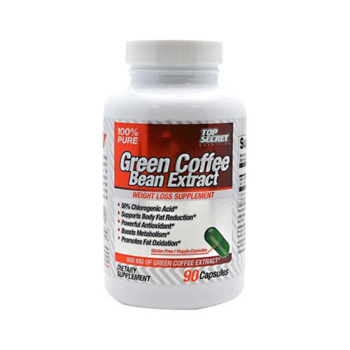 Top Secret Nutrition Green Coffee Bean Extract - 90 Capsules - evoxMarket