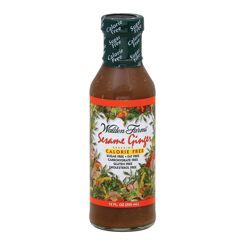 Walden Farms Dressing - Sesame Ginger - Case Of 6 - 12 Fl Oz