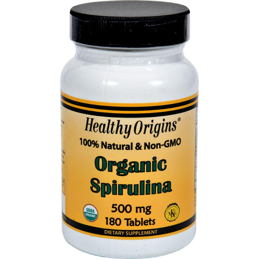 Healthy Origins Organic Spirulina - 500 Mg - 180 Ct