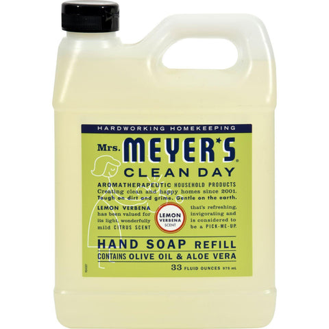 Mrs. Meyer's Clean Day - Liquid Hand Soap Refill - Lemon Verbena - 33 Fl Oz