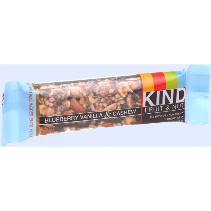 Kind Bar - Blueberry Vanilla And Cashew - 1.4 Oz Bars - Case