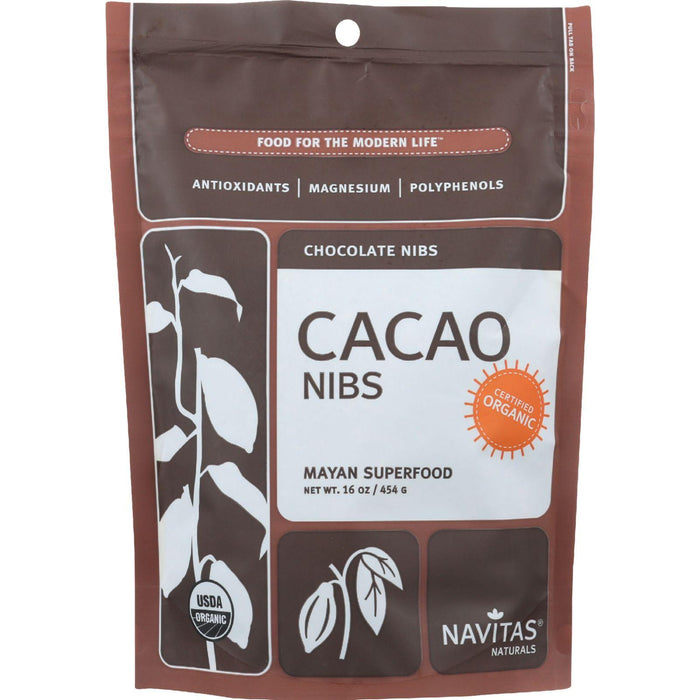 Navitas Naturals Cacao Nibs - Organic - Raw - 16 Oz - Case Of 6
