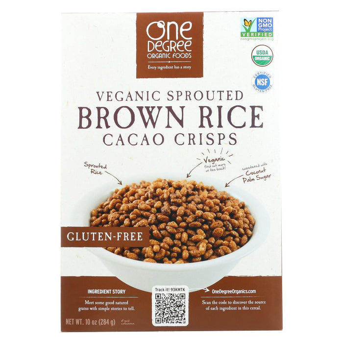 One Degree Organic Foods Sprouted Brown Rice - Cacao Crisps