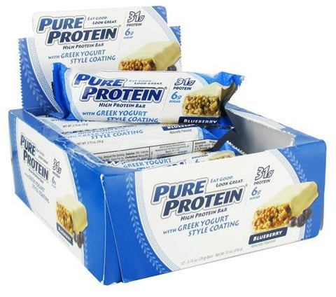 Pure Protein Bar - Greek Yogurt - Blueberry - 2.75 Oz - 1 Case - evoxMarket