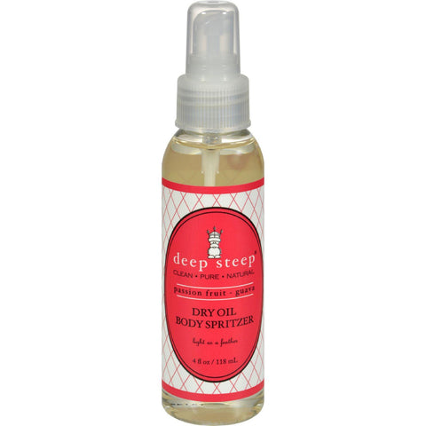 Deep Steep Dry Oil Body Spritzer - Passion Fruit Guava - 4 Fl Oz