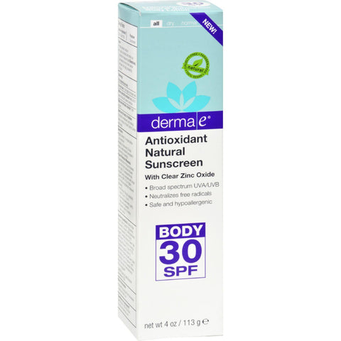 Derma E Sunscreen - Body Antioxidant - 4 Oz