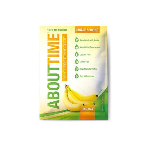 About Time Whey Protein Isolate - Banana Single Serving - 1 Oz - Case Of 12 - evoxMarket