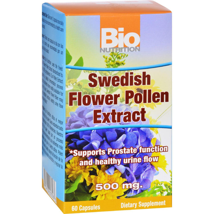 Bio Nutrition - Inc Swedish Flower Pollen Extract - 500 Mg - 60 Veg Capsules