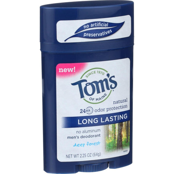 Tom's Of Maine Deodorant - Mens - Long Lasting - Stick - Deep Forest - 2.25 Oz - Case Of 6