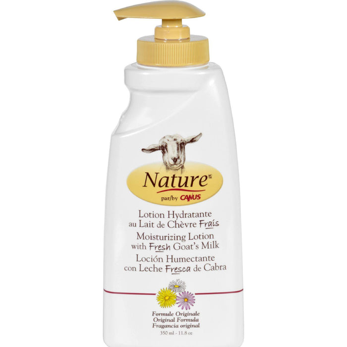 Nature By Canus Lotion - Goats Milk - Nature - Original Formula - 11.8 Oz