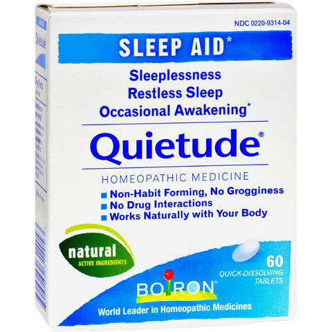 Boiron - Quietude Tablets - Restless Sleep - 60 Tablets