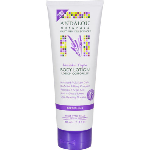 Andalou Naturals Body Lotion - Lavender Thyme Refreshing - 8 Fl Oz