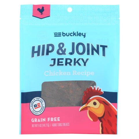 Buckley Hip And Joint Jerky Treats - Chicken - Case Of 6 - 5 Oz.