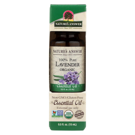Nature's Answer - Organic Essential Oil - Lavender - 0.5 Oz.