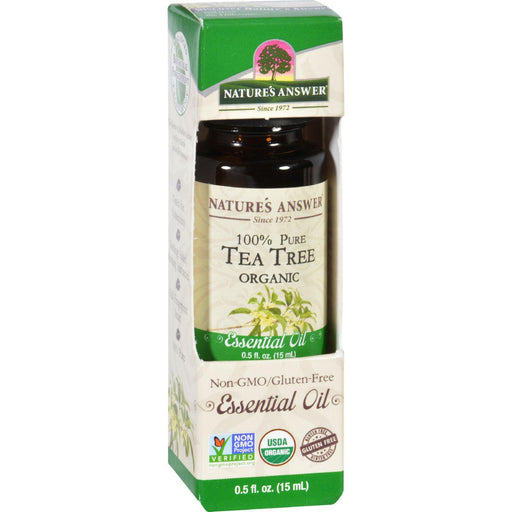 Nature's Answer - Organic Essential Oil - Tea Tree - 0.5 Oz.