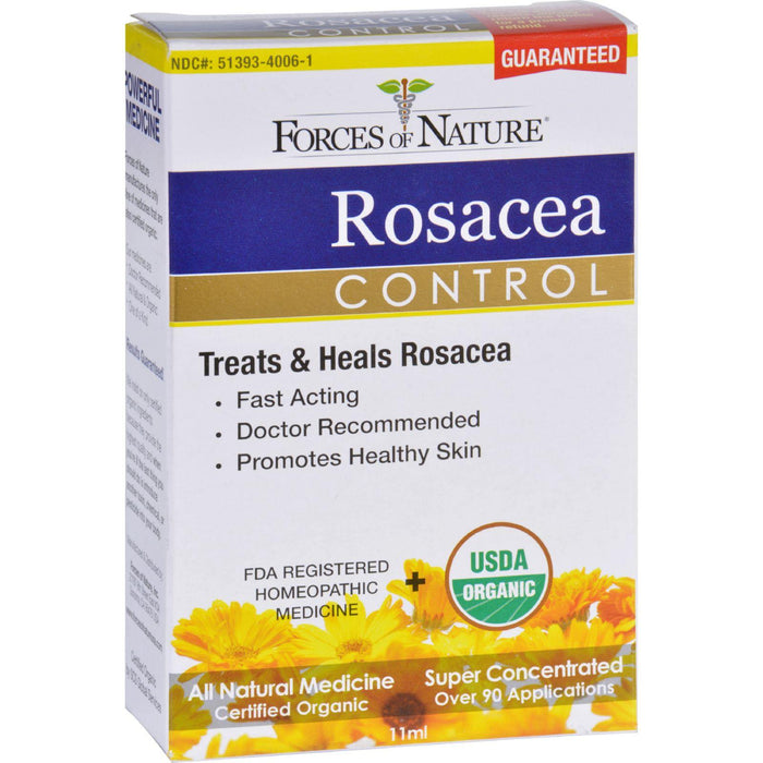 Forces Of Nature Rosacea Control - Certified Organic - 11 Ml - evoxMarket