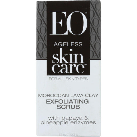 Eo Products Exfoliating Scrub - Ageless - Moroccan Lava Clay - 1.5 Oz - 1 Each