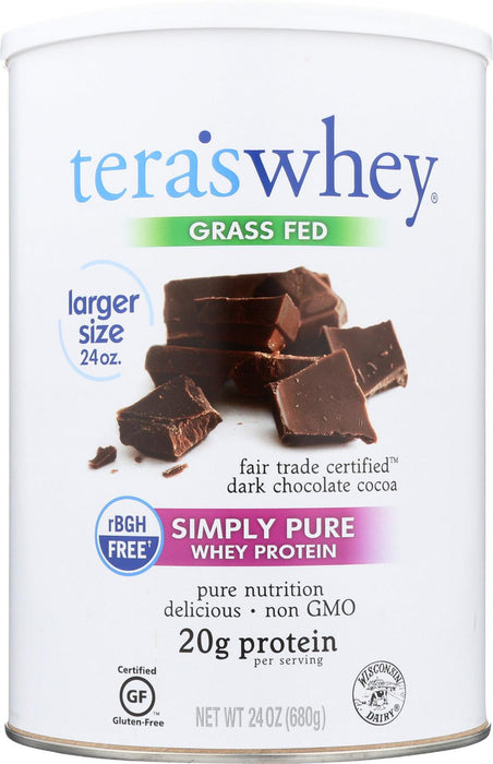 Tera's Whey Protein - Rbgh Free - Fair Trade Dark Chocolate