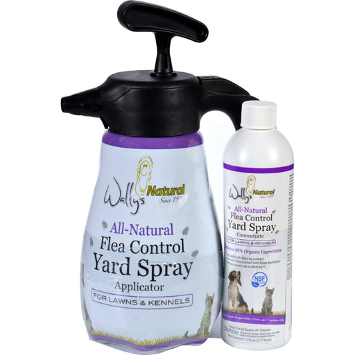 Wallys Natural Products Flea Control Yard Spray - All-natural - Combo Pack - 12 Oz Plus 1 Liter - 1 Each - evoxMarket