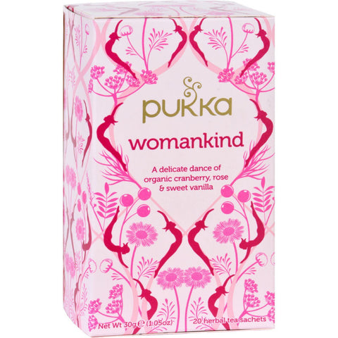 Pukka Herbal Teas Tea - Organic - Womankind - 20 Bags - Case Of 6