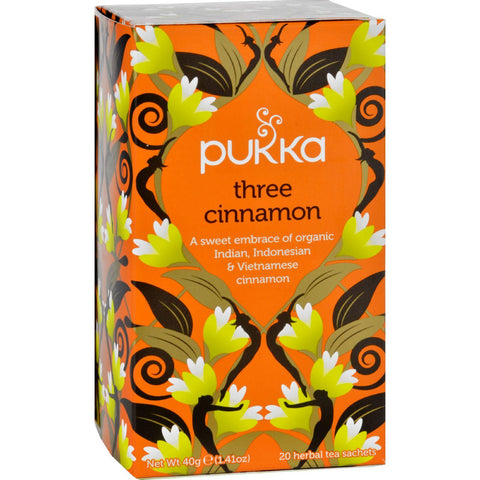 Pukka Herbal Teas Tea - Organic - Three Cinnamon - 20 Bags - Case Of 6