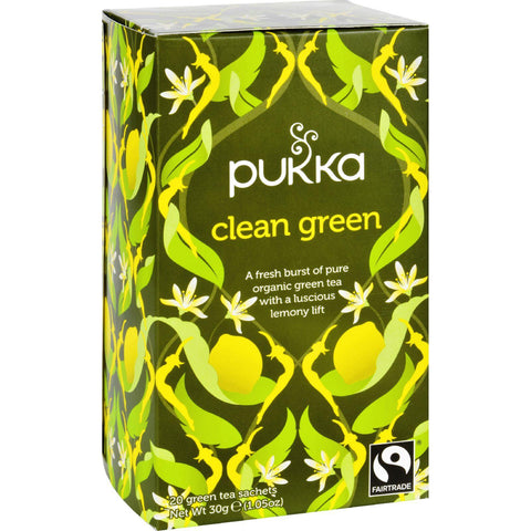 Pukka Herbal Teas Tea - Organic - Green Clean - 20 Bags - Case Of 6