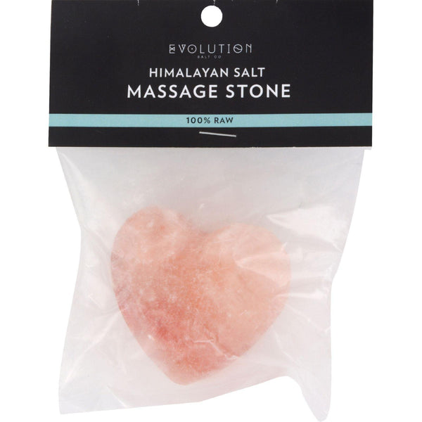 Evolution Salt Crystal Salt Stone - Massage Cleansing - Heart - 6 Oz