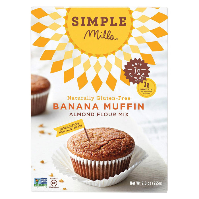 Simple Mills Almond Flour Banana Muffin And Bread Mix - Case