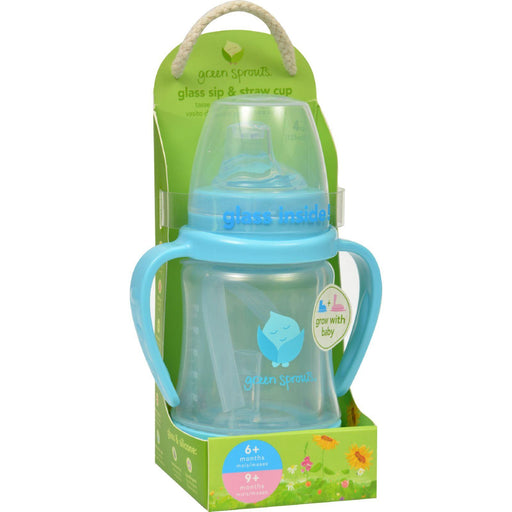 Green Sprouts Cup - Sip N Straw - Glass - 6 Months Plus -